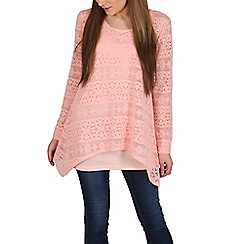Izabel London - Light pink full lace and underlay top