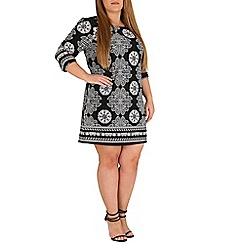 Samya - Multicoloured 3/4 sleeve multi print dress