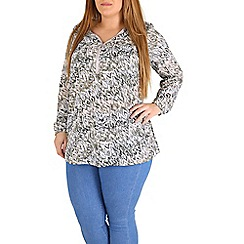 Samya - Multicoloured full sleeve butterfly print top