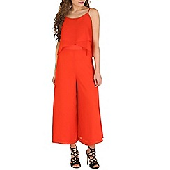 Oeuvre - Red red layered culotte jumpsuit