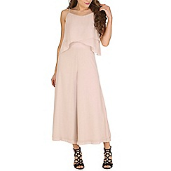 Oeuvre - Beige layered culotte jumpsuit
