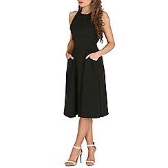Oeuvre - Black black crossover back skater dress.