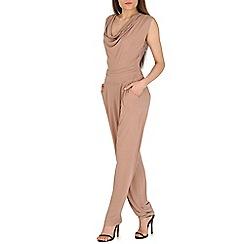 Mela - Brown lace back jumpsuit