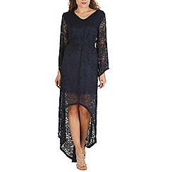 Mela - Navy high front lace dress