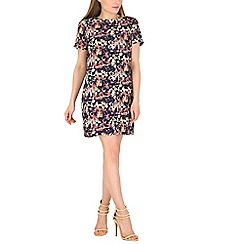 Poppy Lux - Navy smudge print tunic dress