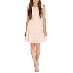 Mela - Cream textured dress