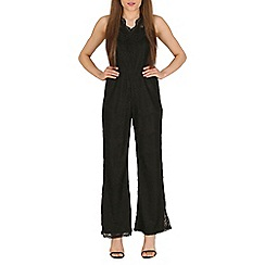 Mela - Black wide leg lace jumpsuit