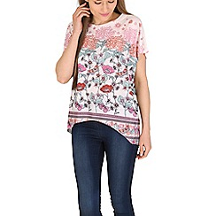 Voulez Vous - Multicoloured oversized flower embellished top