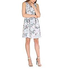 Voulez Vous - Turquoise floral pleat dress