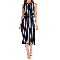 Blue Vanilla - Navy stripey shirt dress