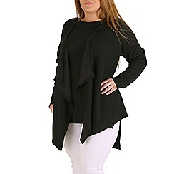 Amy K - Black waterfall jacket