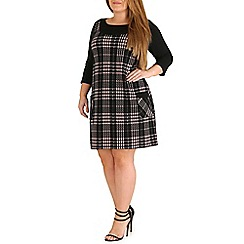 Amy K - Black check pinafore dress