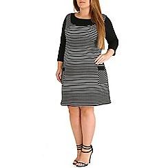 Amy K - Black pinafore dress