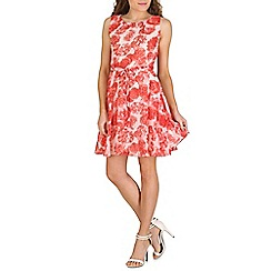 Mela - White light rose printed dress