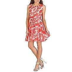 Mela - White light rose printed dress
