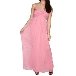Bridesmaid Dresses: Alice & You Pink Ruched Halterneck Maxi Dress