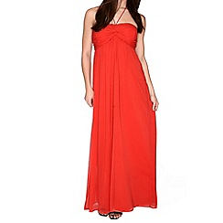 Alice & You - Red ruched halterneck maxi dress