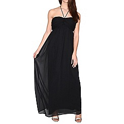 Alice & You - Black ruched halterneck maxi dress