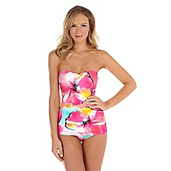 Seaspray - Multicoloured camille drape bandeau swimsuit