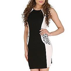 Izabel London - Black detail shoulder dress