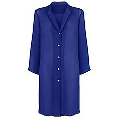 Seaspray - Navy chiffon oversized shirt cover up