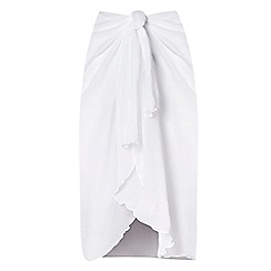 Seaspray - White waterfall sarong