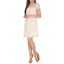 Pussycat London - Cream cut out lace detail shift dress
