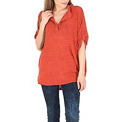 Pussycat London - Peach jersey tunic top