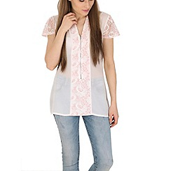 Pussycat London - Cream lace detail top