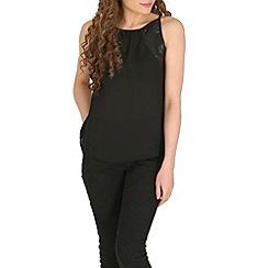 Izabel London - Black leather side top