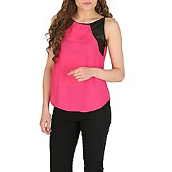 Izabel London - Pink leather side top