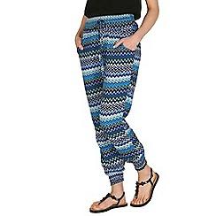 Izabel London - Blue aztec print pants