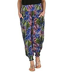 Izabel London - Blue eastern printed harem trousers