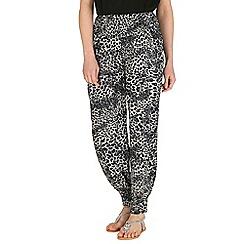 Izabel London - Grey leopard print trousers