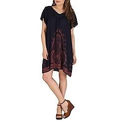 Izabel London - Navy polyester short sleeve multi coloured