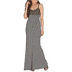 Izabel London - Multicoloured strappy stripe maxi dress