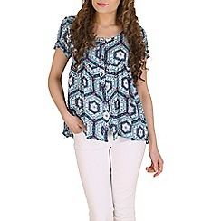 Izabel London - Blue tribal printed top