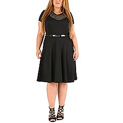 Emily - Black jewelled motif skater dress