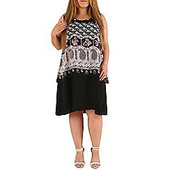 Emily - Black split back layered dress
