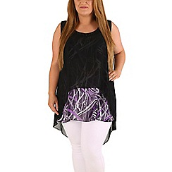 Emily - Purple layered chiffon tunic