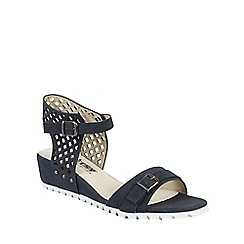 Betsy - Navy lattice design wedges