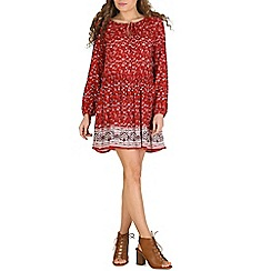 Voulez Vous - Red keyhole border floral dress
