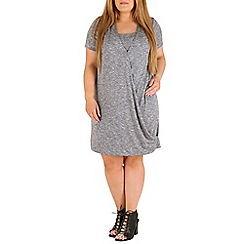 Amy K - Grey long line wrap over tunic