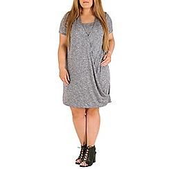 Amy K - Grey long line wrap over tunic