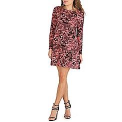 Indulgence - Pink printed skater dress