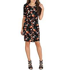 Indulgence - Black floral shift dress
