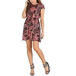 Indulgence - Pink floral & leaf dress