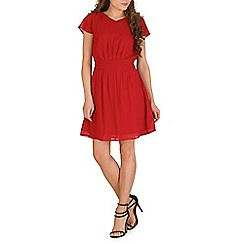 Pussycat London - Red waist detail chiffon dress