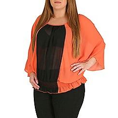 Samya - Orange batwing contrast panel top