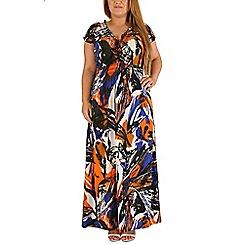 Samya - Multicoloured short sleeve abstract printed dress